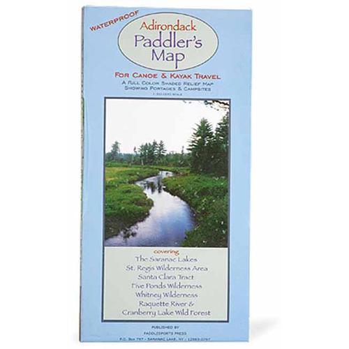 ADIRONDACK PADDLER'S MAP