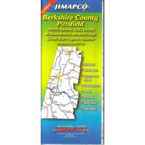 JIMAPCO BERKSHIRE COUNTY, MA PAPER WALL MAP