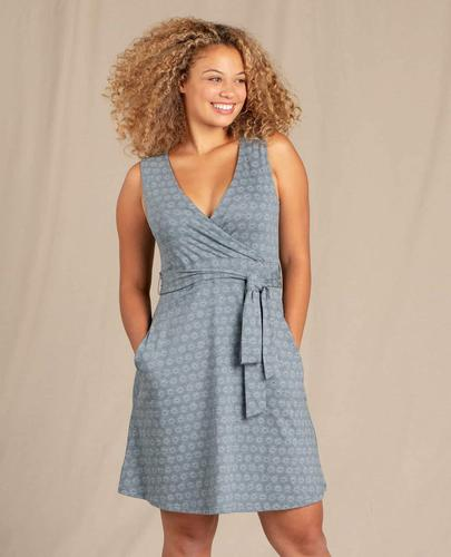 TOAD&CO WOMEN'S CUE WRAP SLEEVELESS DRESS