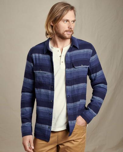 TOAD & CO INDIGO FLANNEL LONG SLEEVE