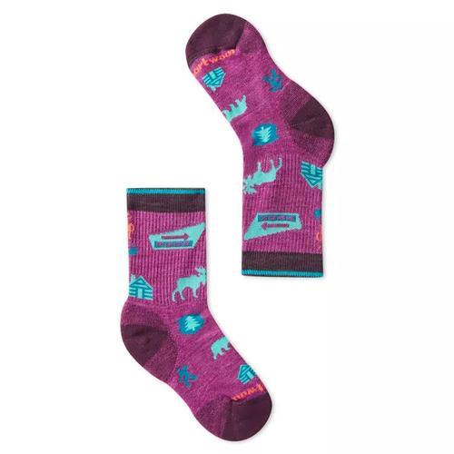 Kids` Hike Light Park Explorer Pattern Crew Socks