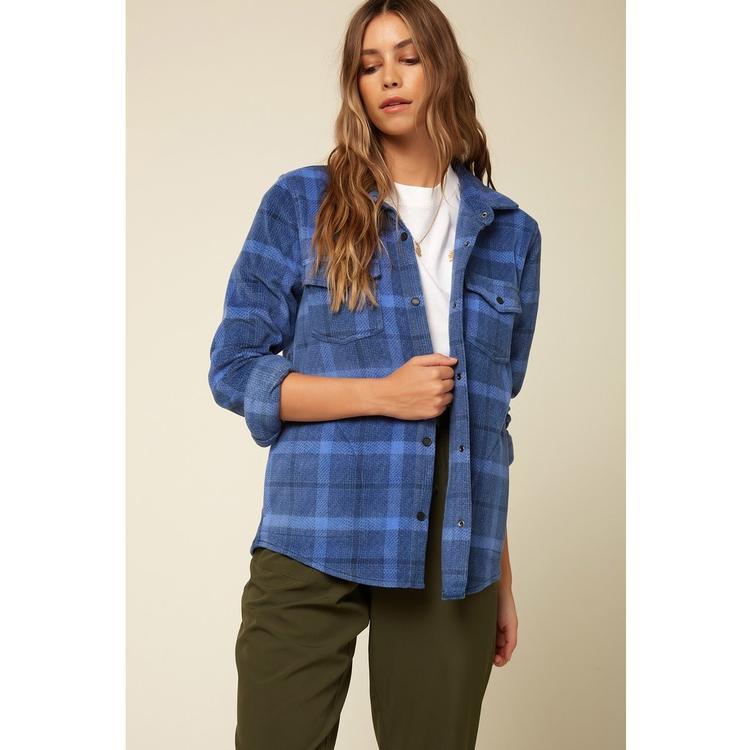 Wms Zuma Super Fleece Flannel: INSIGNIA_BLUE